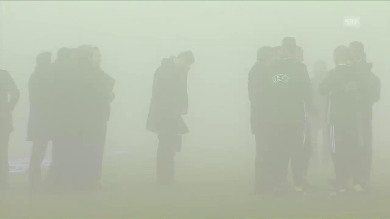 Sassuolo-Genk wegen Nebels abgesagt
