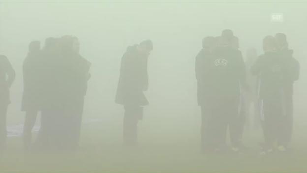 Video «Sassuolo-Genk wegen Nebels abgesagt» abspielen