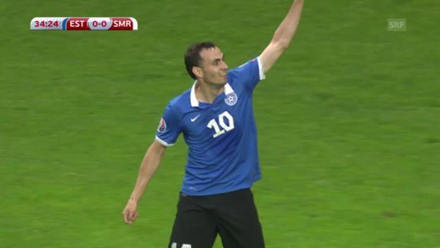 Video «Fussball: EM-Quali, Estland - San Marino ZSF» abspielen