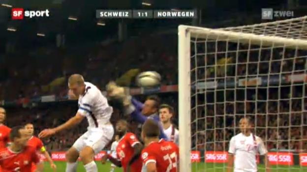 Video «Fussball: Schweiz - Norwegen» abspielen