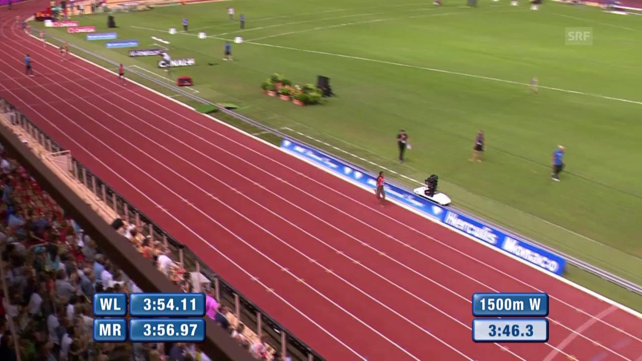 Leichtathletik: Diamond League Monaco, der Weltrekord-Lauf von Dibaba in voller Länge