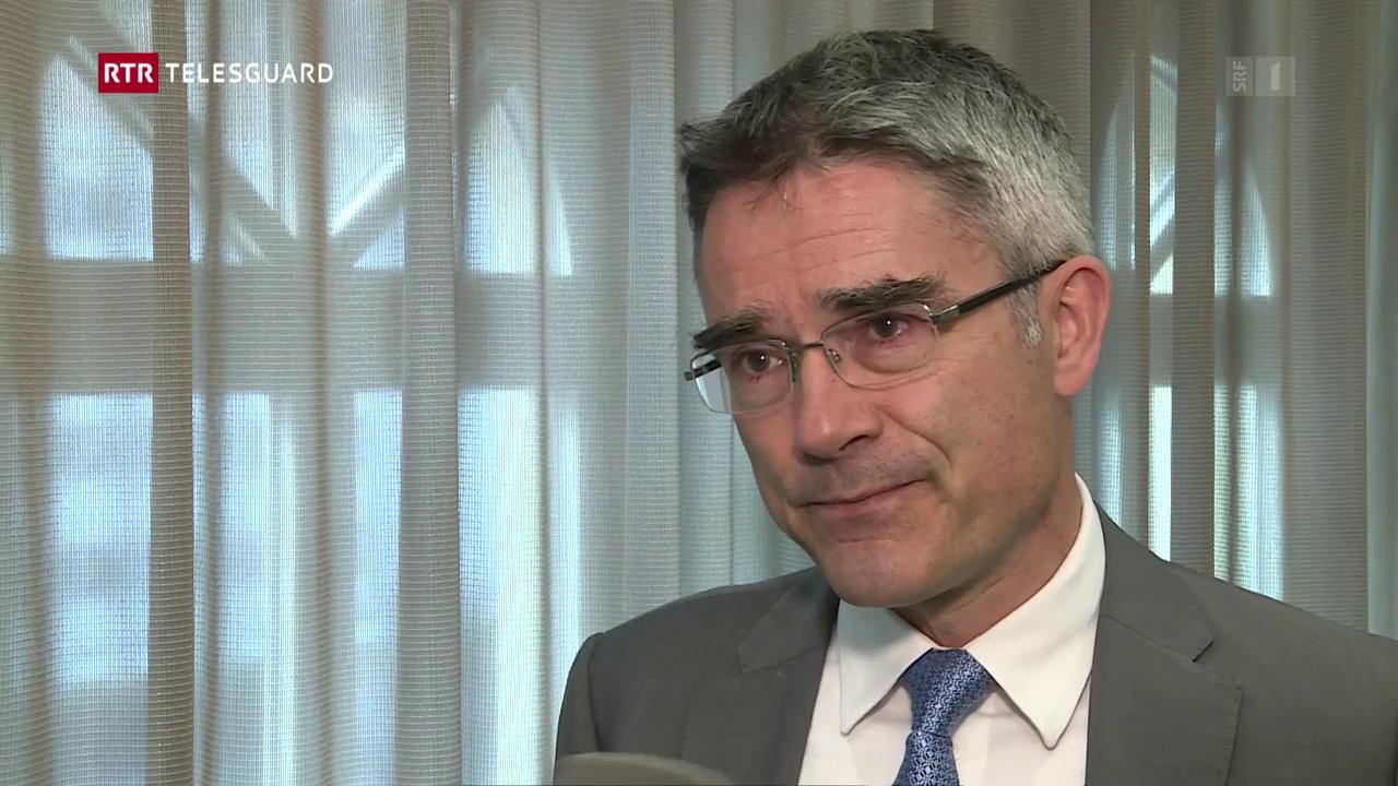 Il cusseglier guvernativ Mario Cavigelli davart la proposta da Monika Krüsi sco nova presidenta dal cussegl d'administraziun