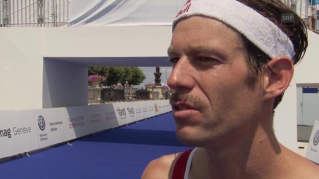 Video «Triathlon: EM in Genf, Interview mit Riederer» abspielen