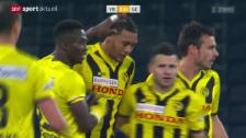 Video «Fussball: Guillaume Hoaraus Traumtor gegen GC» abspielen