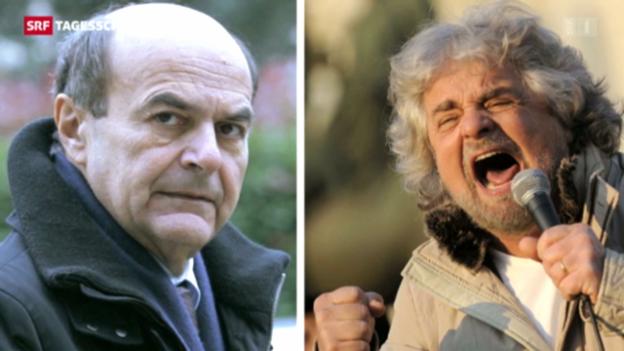 Video «Bersani scheitert in Italien mit der Regierungsbildung» abspielen