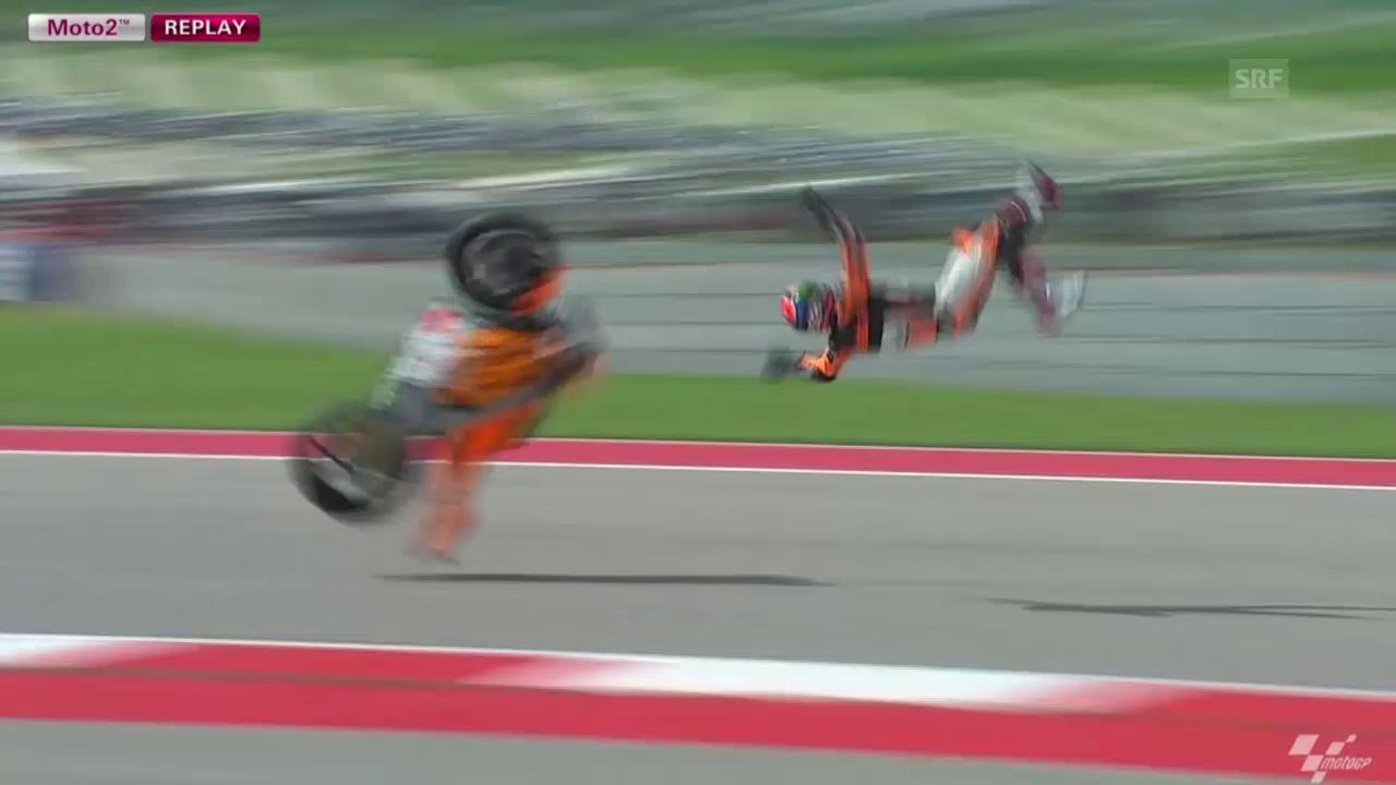 Motorrad: Sturz von Sam Lowes (Quelle: SNTV)