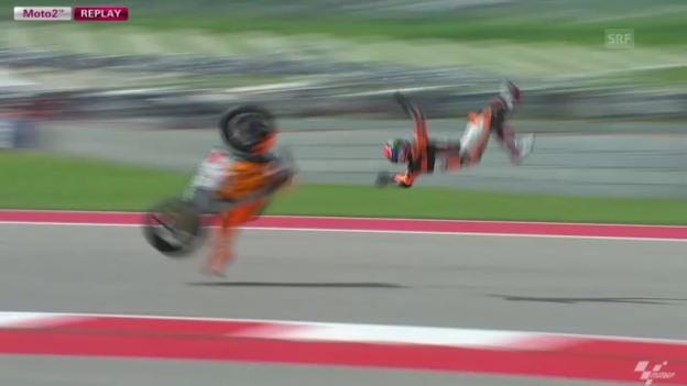 Video «Motorrad: Sturz von Sam Lowes (Quelle: SNTV)» abspielen