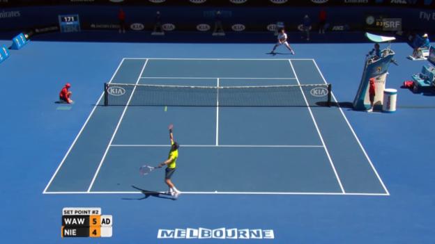 Video «Highlights: Wawrinka - Nieminen» abspielen