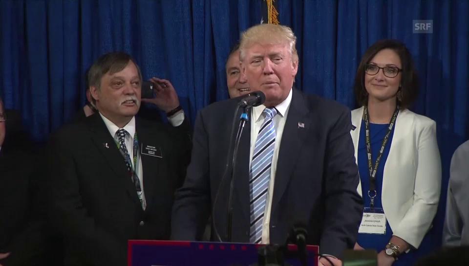 Trump bedankt sich für Delegiertenstimmen