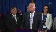 Video «Trump bedankt sich für Delegiertenstimmen» abspielen