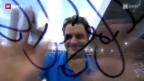 Video «Federers Auftritt in Madrid» abspielen