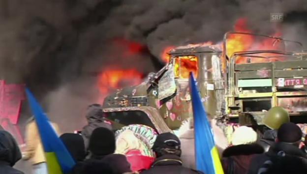 Video «Krawalle in Kiew (unkomm.)» abspielen