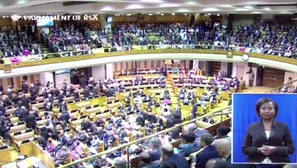 Aufruhr im südafrikanischen Parlament (unkomment.)