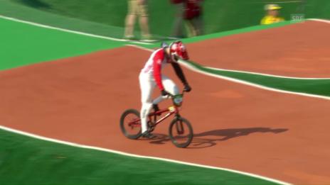 Video «Abgeschossen: Graf kommt in Run 3 zu Fall» abspielen