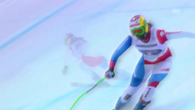 Video «Ski alpin: Weltcup-Abfahrt in Garmisch, Jnglin-Kamer wird 2.» abspielen