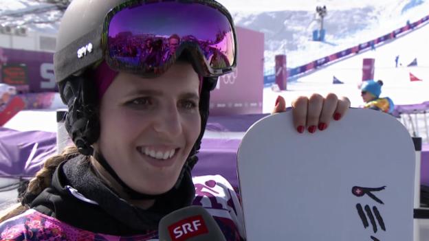 Video «Snowboard: Parallel-Slalom, Interview mit Patrizia Kummer (sotschi direkt, 22.2.2014)» abspielen
