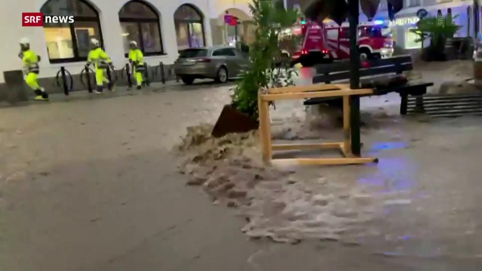 Unwetter sorgen auch in Österreich für Hochwasser