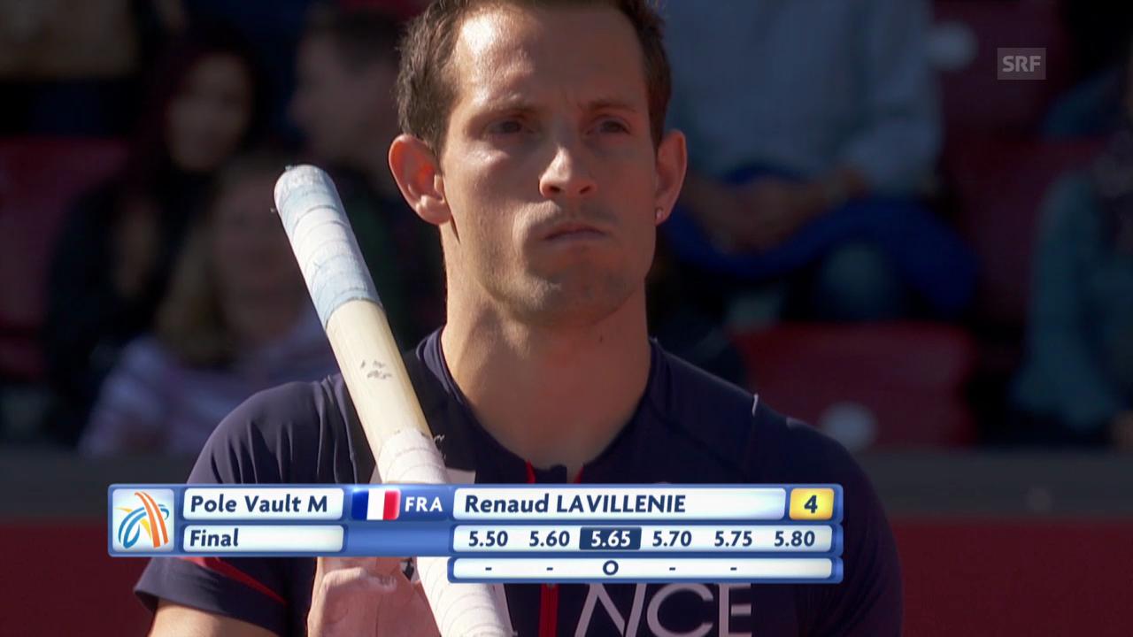 Leichtathletik: Gold-Sprung von Renaud Lavillenie