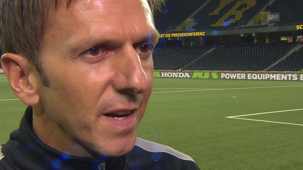 Fussball: EL-Playoffs, Interview YB-Coach Gämperle