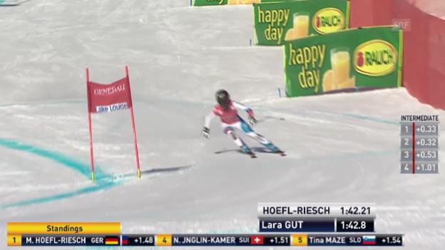 Video «Ski alpin: Die Fahrt von Lara Gut («sportlive»)» abspielen