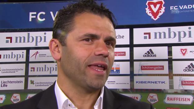 Video «Fussball: Super League, 26. Runde, Vaduz - YB, Interview Forte» abspielen