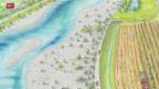 Video «Widerstand gegen Hochwasserschutz-Projekt» abspielen