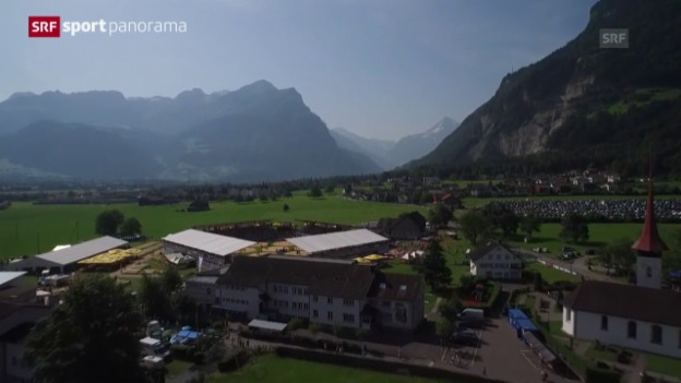 Video «Schwingen: Innerschweizerisches Fest in Seedorf» abspielen