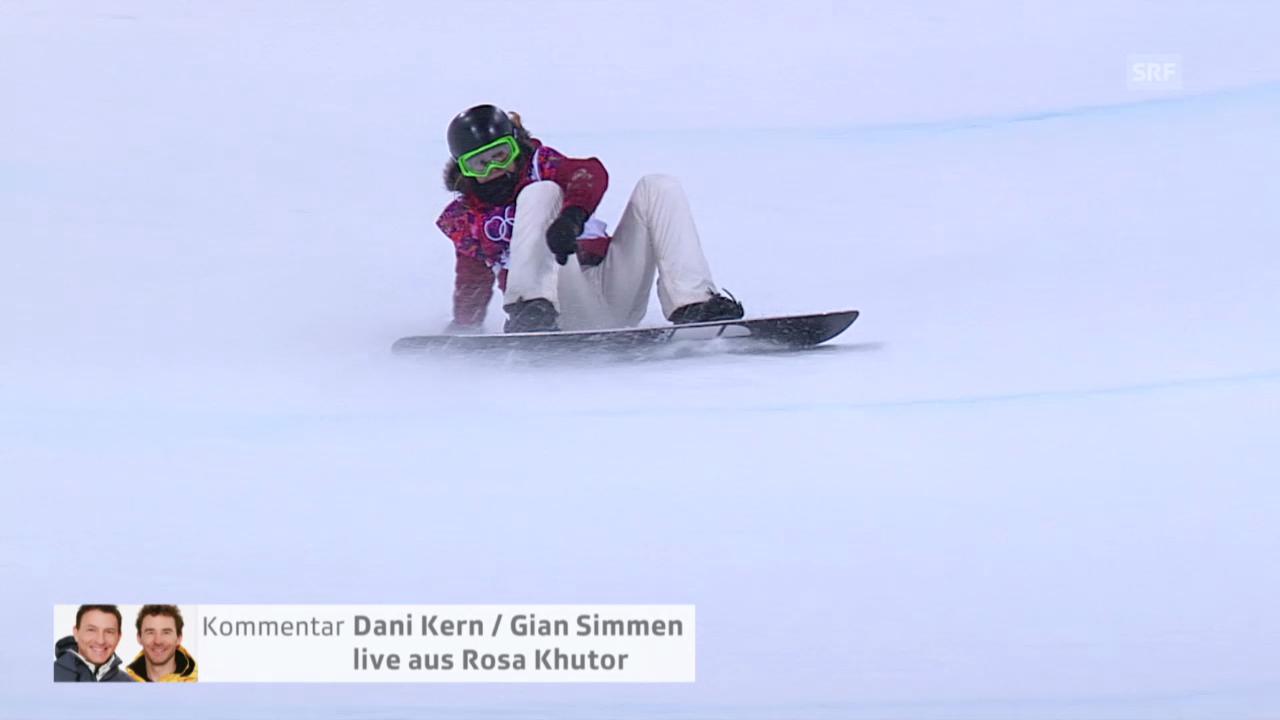 Snowboard Halfpipe: 2. Halbfinal-Run von Ursina Haller (sotschi direkt, 12.02.2014)