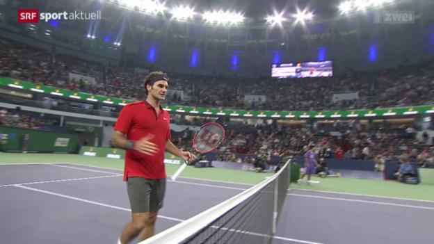 Video «Tennis: ATP-1000 in Schanghai, Federer - Benneteau» abspielen