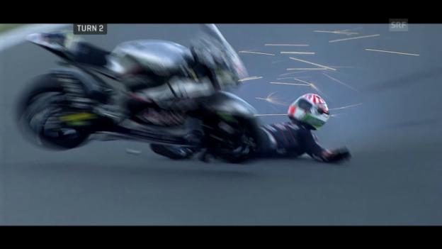 Video «Sturzfestival beim Moto2-Qualifying in Australien» abspielen