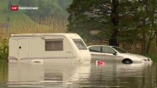 Video «Der Dauerregen hinterlässt deutliche Spuren» abspielen
