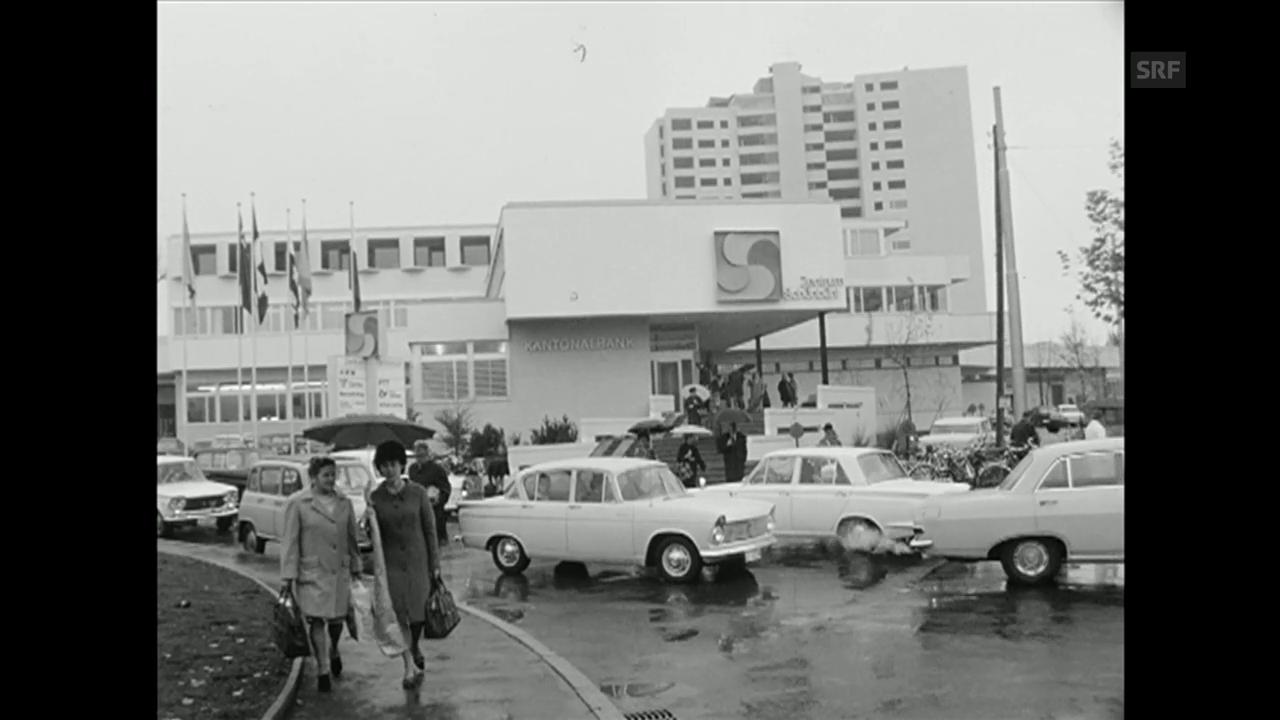 Eröffnung erstes Shoppingcenter Schweiz