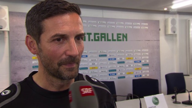 Video «Fussball: Super League, der neue St. Gallen-Coach Joe Zinnbauer im Interview» abspielen