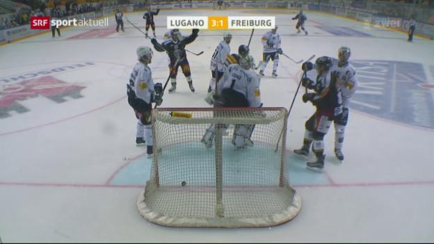 Video «Lugano mit später Wende gegen Freiburg» abspielen