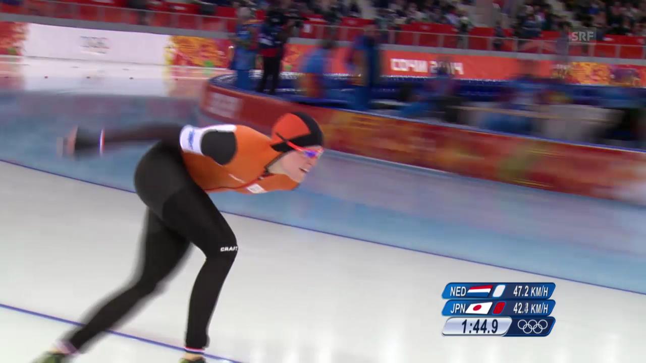 Eisschnelllauf: 1500 m Frauen, Lauf von Jorien ter Mors (sotschi direkt, 16.02.2014)