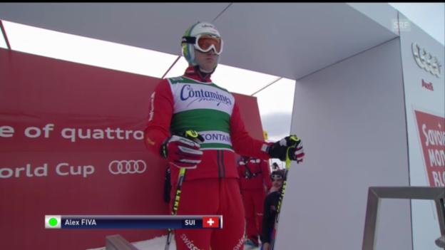 Video «Skicross: Fiva gewinnt in Les Contamines» abspielen
