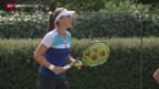 Video «Tennis: Belinda Bencic nach ihrem Triumph in Eastbourne» abspielen