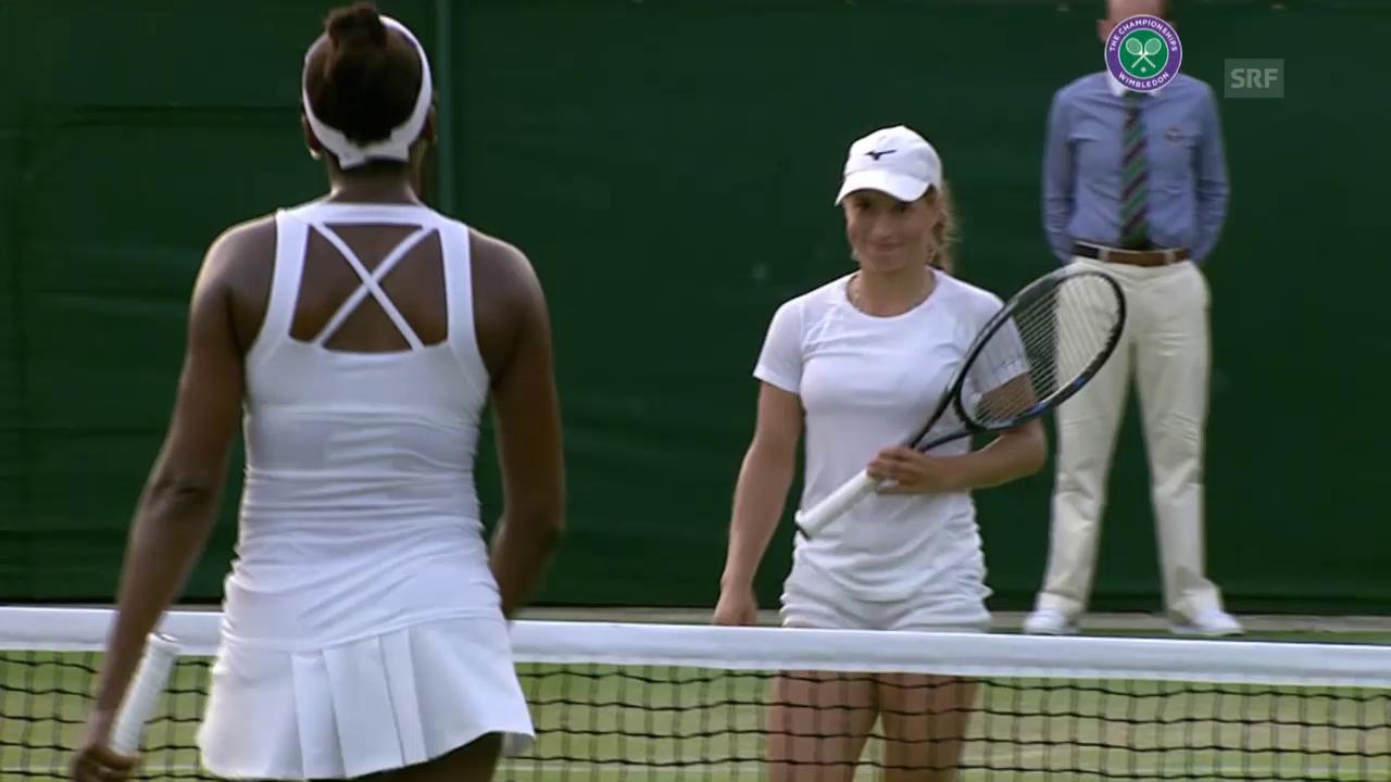 Tennis: Wimbledon, Venus Williams - Julia Putinzewa, Matchball