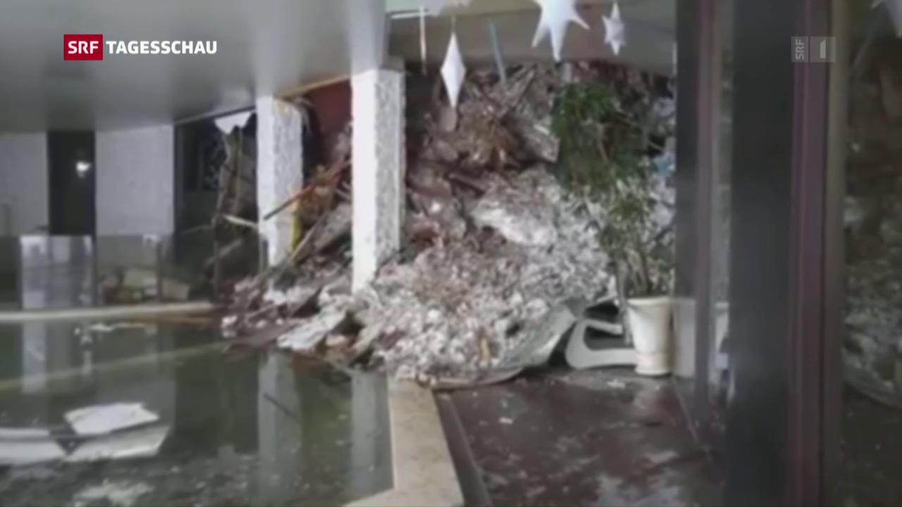 Lawine verschüttet Hotel in italienischen Abbruzzen