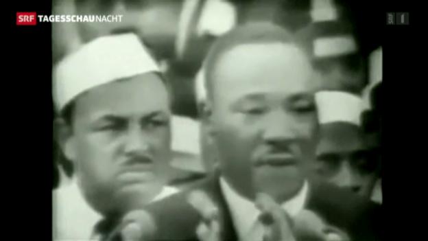 Video «Die USA ehren ihren grössten Träumer» abspielen