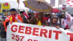 Video «Demonstration gegen Sanitärtechniker Geberit» abspielen