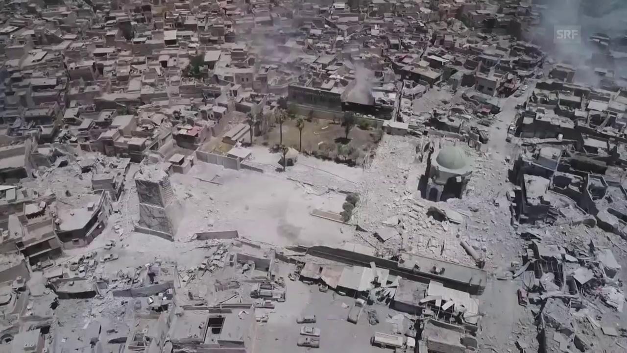 Die symbolträchtige Moschee in Trümmern (ohne Ton)