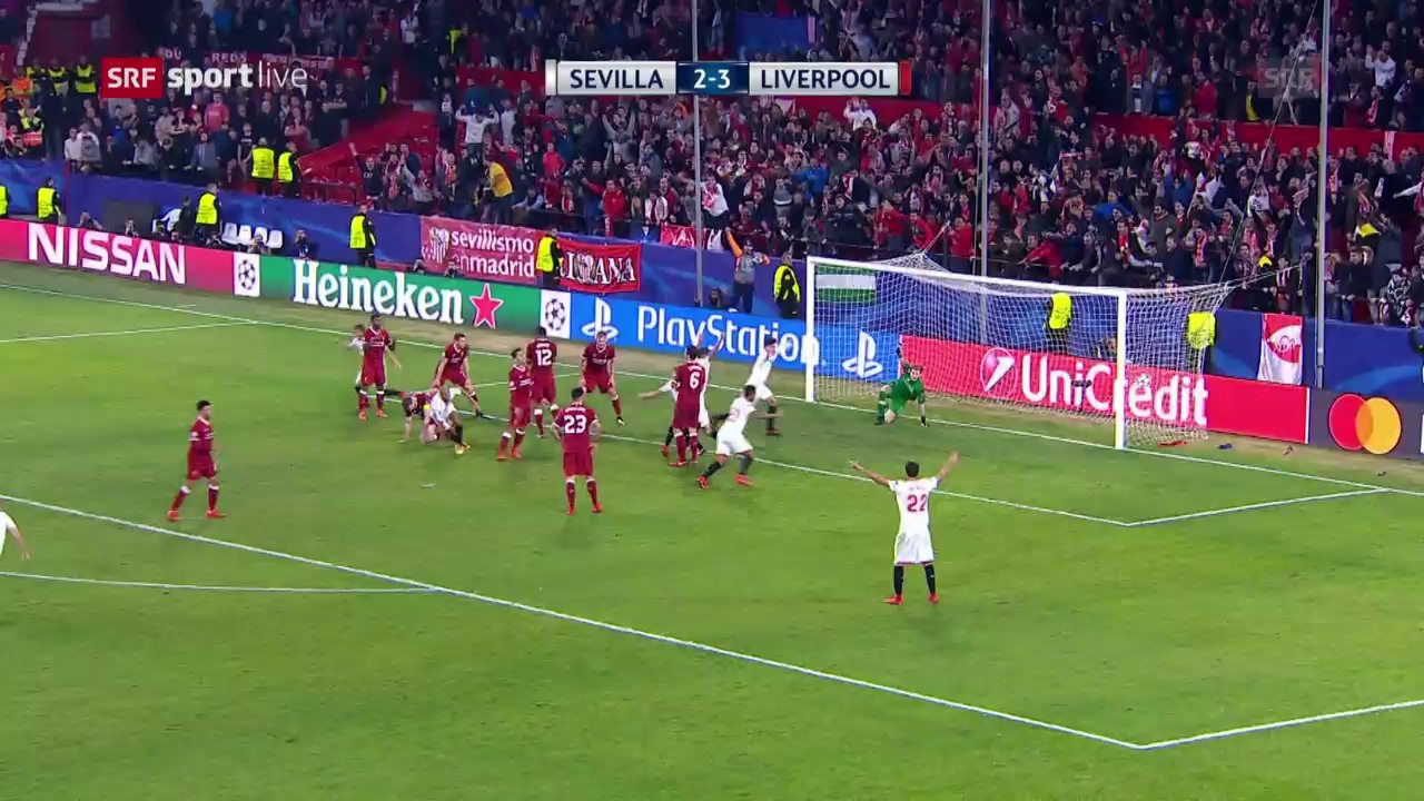 Später Schock für die «Reds» in Sevilla