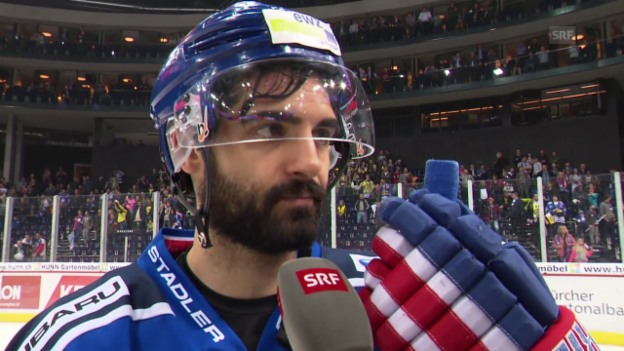 Video «Eishockey: Finalserie ZSC - HCD, Interview mit Andri Stoffel» abspielen