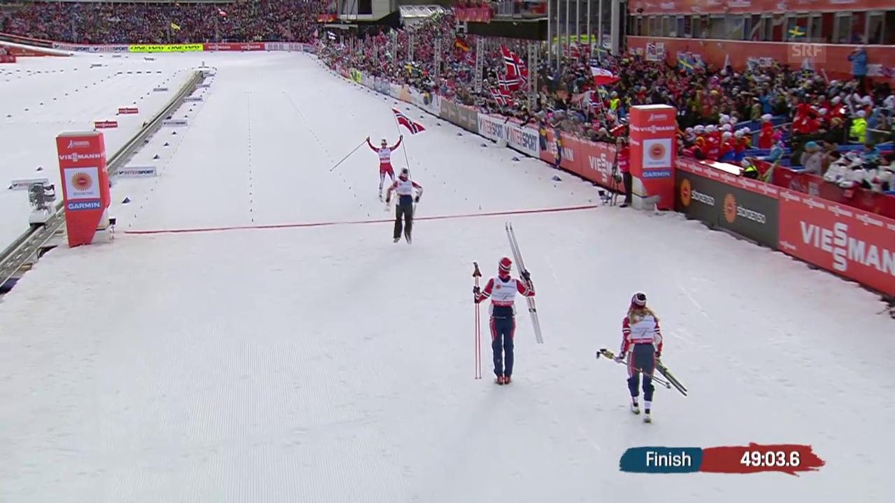 Langlauf-WM: Staffel Frauen Endphase