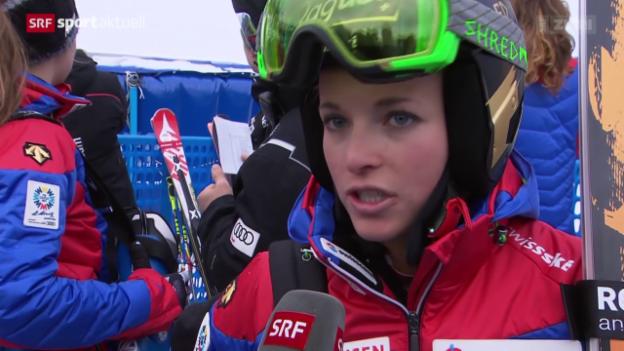 Video «Ski alpin: Die Stimmen zur Frauen-Abfahrt» abspielen