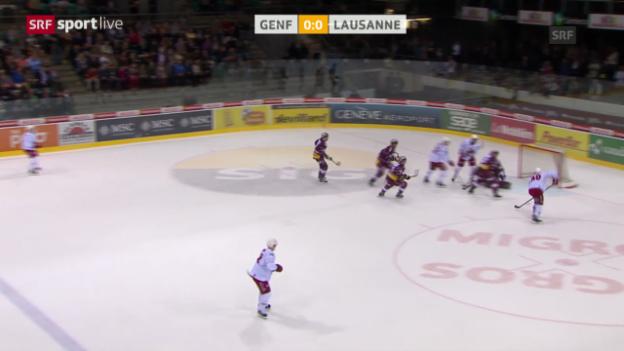 Video «Eishockey, NLA, Genf - Lausanne» abspielen