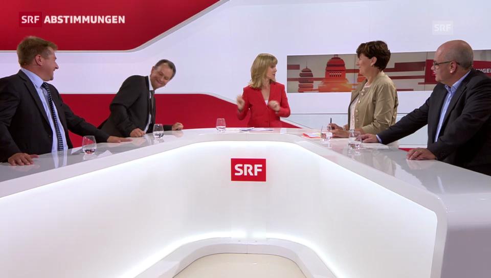 Müller kickt Brunner unter dem Tisch