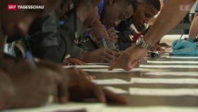 Video «Weiter steigende Asylzahlen» abspielen