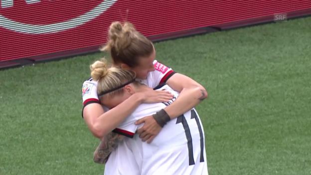 Video «Fussball: Frauen-WM, Zusammenfassung Deutschland-Elfenbeinküste» abspielen